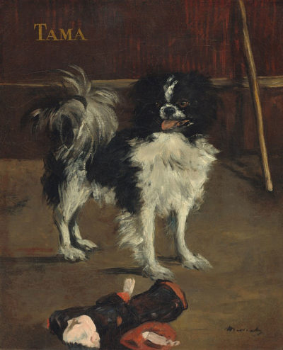 Tama, ein japanischer Hund Édouard Manet, um 1875 61 × 50 cm Öl auf Leinwand National Gallery of Art, Washington, D.C.